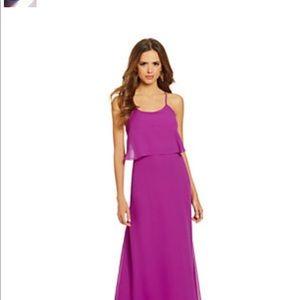 Tahari Fan Fav Penelope Maxi Dress Bright Purple